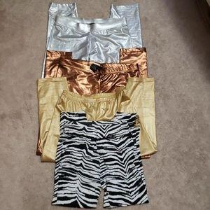 ⭐3/$30⭐Bundle of Metallic and Zebra Leggings